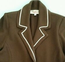 St. John Women Santana Knit Brown Longsleeve Jacket Coat Size 6