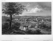 Weimar, Ansicht, Original-Stahlstich von ca. 1850