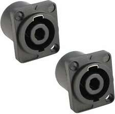 2x Speakon kompatible Einbaubuchse 4-polig, Speaker Einbaukupplung 4-pol NEU