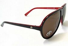 NEW Electric Visual Typ-2  Black Red Chex Grey Mens Round Sunglasses Msrp$120