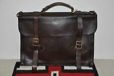 Ralph Lauren RRL Distressed Brown Leather Briefcase Messenger Bag