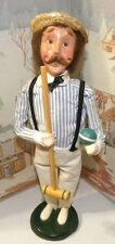 BYERS CHOICE CAROLER Croquet Man with Mallet and Ball 1999     *