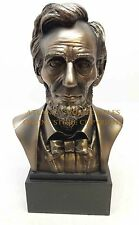 Cold Cast Bronze Bust 16th President Abraham Abe Lincoln Head Home Figure Statue