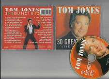 TOM JONES 30 greatest hits live in concert  CD