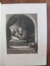 "Artist Frans Van Mieris ""The Writing Master"" 1876 Appleton Print Wallis Engraver"
