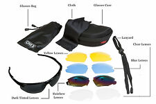 CHEX Ace Mens Boys Sports Sunglasses 5 Interchangeable Lenses Inc Tinted Case