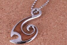 Fish Hook Koa wood Pendant and Chain Included