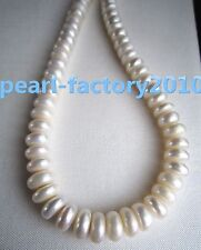 """baroque 18"""" AAA 11 MM SOUTH SEA NATURAL White PEARL NECKLACE 14K GOLD  CLASP"""