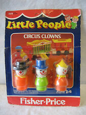 SEALED vintage Fisher Price Little People CIRCUS CLOWNS unopened MOC figure 0675