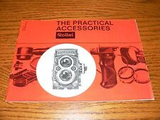 "Vintage Rollei TLR Cameras ""The Practical Accessories Brochure""~Excellent Cond."