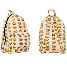Boys Girls Smiley Fangirl Emoji Backpack Funny Satchel Shoulders Bag Schoolbag