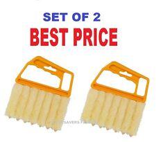 2 x 7 à lamelles store vénitien cleaner brosse duster stores nettoyage facile lavable nouveau