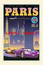 "Pixar Disney Cars 2 [ 8.5"" x 11"" ] movie Poster Paris"