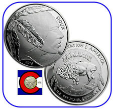 2016 Sioux Indian Buffalo $1 Silver 1 oz RP Coin/Round -- Native American Mint