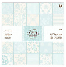 "Papermania 8x8"" scrapbooking capsule collection 32 sheets Eau de nil green paper"