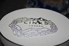 GENUINE LINKS OF LONDON STERLING SILVER 19 CM SIX ROW OVAL BEAD BRACELET - BNIB