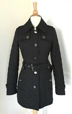 Quilted Black Trench Jacket By Esprit Outerwear women's coat size XS