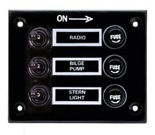 Marine 3 Gang Fuse Switch Panel 12V (BLACK) /Boat / Yacht