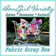 BonEful Fabric VARIETY SEW Quilt L SCRAP BOX Knit Cloth Barbie Girl Doll Clothes