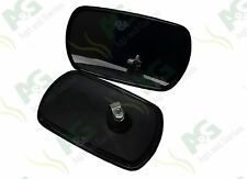 "Universal Mirror Head To Suit Tractor, Truck, Digger, 10"" x 6"" - 2 Pcs"