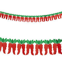CHILI GARLAND 3 METERS LONG PAPER PARTY DECORATION MEXICAN