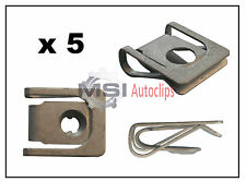 5 x VW VOLKSWAGEN AUDI SPRING NUT LOWER PLATE U NUT UNDER ENGINE COVER CLIP
