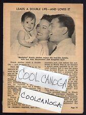 1961 Tv Article~FRANK ALETTER & LEE ANN MERRIWETHER & DAUGHTER KYLE KATHLEEN