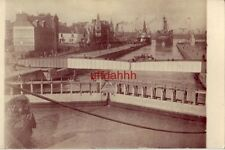 FRANCE HARBOR AT ST NAZAIRE (misspelled on back of card) reprint photo circa WWI
