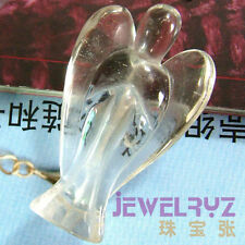 Wholesale Rock Crystal Carved Standing Angel with Wing Figurine Pendant Fashion