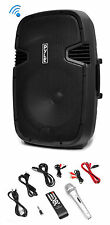 Pyle PPHP152BMU 1000 Watt 15 Inch Bluetooth Powered Active PA DJ Speaker Sy