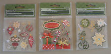 3 Packs of Very Cute Christmas Scrap Booking  Sticker Embellishments (X-103)
