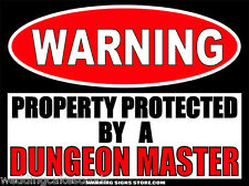 Dungeon Master Funny Warning Sign Bumper Sticker Decal DZ WS285