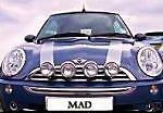 BMW MINI 2002 SPOT LIGHTS DRIVING LAMPS BRUSHED STEEL LIKE CHROME