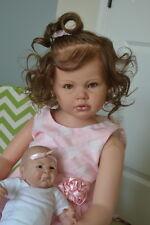 Ooak Reborn newborn real life  baby girl Toddler Jenna  5  Year old  art doll