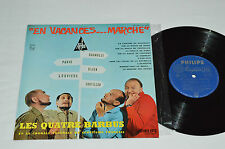 "LES QUATRE BARBUS En Vacances... Marche 10"" Vinyl Album LP 33rpm Philips France"