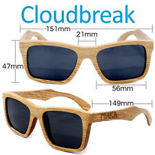 Duwood Frame Wood Sunglasses Brown Wooden Cloudbreak Polarized Square UV400+