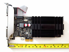 1GB PCI-E x1 Full Height Size Dual Monitor Display View Video Graphics VGA Card