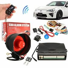 1-Way Car Vehicle Alarm Protection Security System Keyless Entry Siren 2 Remote