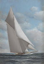 The Reliance  by Antonio Jacobsen  Giclee Canvas Print Repro