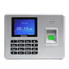 "A3 2.8"" TFT Fingerprint Time Attendance Clock Employee Payroll Recorder Silver"