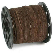 25 Yds. 3mm Real Suede Leather Brown Lacing Stitching Lace Beading Stringing