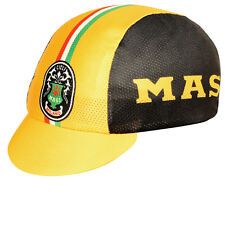 NEW Pace Masi Milano CoolMax Cycling/Bicycle Cap - Black & Yellow - Made in USA