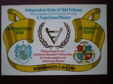 POSTCARD PO BOX 1 ROYAL MAIL INDEPENDENT ORDER OF ODD FELLOWS - BOURNEMOUTH 1981
