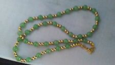 Women's Fashion Necklace Vintage Costume Jewelry Faux Jade Bead Accessory