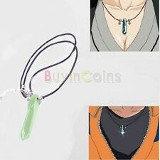 Naruto Hokage Uzumaki Green Crystal Anime Tsunade Necklace Cosplay HKUS