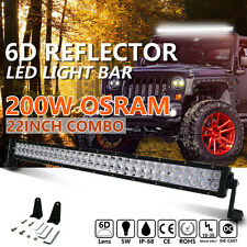 6D OSRAM 22INCH 200W LED WORK LIGHT BAR SPOT & FLOOD COMBO BEAM 4X4WD SUV 20 24""