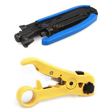 RG59 RG6 RG11 Compression Tool Coax Coaxial Cable Crimper Stripper F Connector