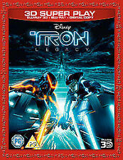 Tron - Legacy (3D Blu-ray, 2012, 3-Disc Set)