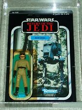 Vintage Star Wars 1983 AFA 80/85/85 AT-ST DRIVER ROTJ Kenner Card 77 BACK-A MOC!