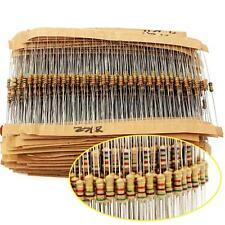 1500pcs 1 ohm~ 10M ohm 1/4W 75 Values Carbon Film Resistors Assorted kit 5%